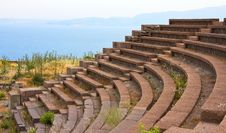 Ruined Ancient Theatre Near Assos(2) Royalty Free Stock Image