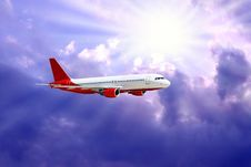Free Airplane In Air Royalty Free Stock Images - 9823079