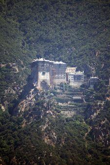 Monastery On Athos Mountain Royalty Free Stock Images