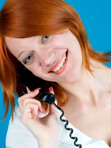 Free Girl With Phone Royalty Free Stock Image - 9823596