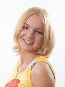 Free Portrait Of Blond Girl Stock Images - 9824084