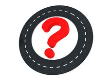 Road Question Royalty Free Stock Photos