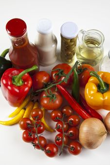 Free Different Fresh Tasty Vegetables Royalty Free Stock Photo - 9824265