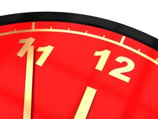 Free Clock Closeup Royalty Free Stock Image - 9824596