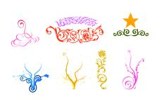 Free Design Floral Vector Elements Royalty Free Stock Images - 9824609