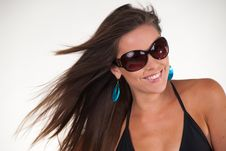Attractive Young Woman With Sun Glasses Stock Photography