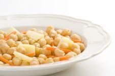 Free Chickpeas Homemade Carrot And Potato Dish Royalty Free Stock Photo - 9825495