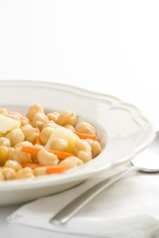 Chickpeas Homemade Carrot And Potato Dish Royalty Free Stock Image