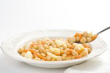 Free Chickpeas Homemade Carrot And Potato Dish Royalty Free Stock Photography - 9825537