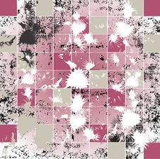 Abstract Grunge Mosaic Tiles Raster Stock Image