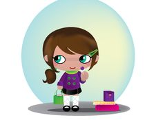 Free Little Shopper Royalty Free Stock Images - 9826319