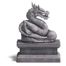 Free Chinese Dragon Stone Statue Royalty Free Stock Photography - 9826387