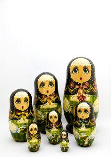 Matryoshka Nested Russian Dolls Royalty Free Stock Photography