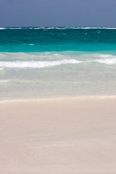 Free Tulum White Beach In Mexico Stock Image - 9827611