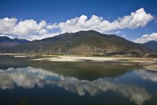 Free River With Clouds Royalty Free Stock Image - 9827886