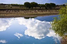 Free River With Clouds Royalty Free Stock Photography - 9827947