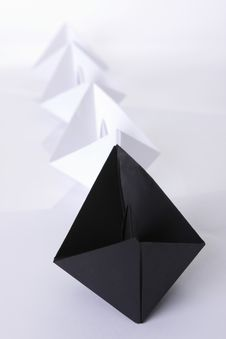 Free Black Paper Boat In The Line Stock Photos - 9828343