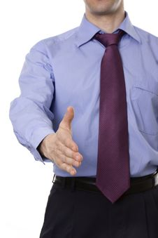 Free A Business Man With An Open Hand Ready To Seal A D Stock Photo - 9828410