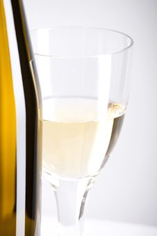 Free Wine Bottle And Glass Stock Photography - 9828572