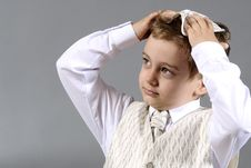 Free Worried Boy Royalty Free Stock Photography - 9828677