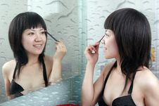 Free Asian Girl In The Bathroom Stock Photo - 9828740