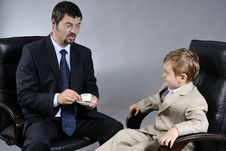 Free Father And Son Royalty Free Stock Photography - 9828787