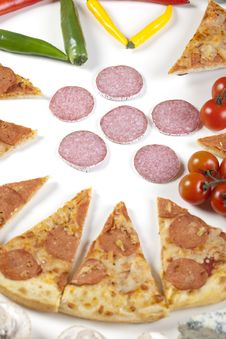 Free Pizza With Salami Stock Photo - 9828930