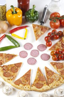 Free Pizza With Salami Stock Photography - 9828982