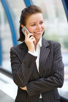 Free Modern Professional Businesswoman With Phone Stock Photography - 9829792