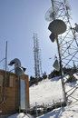 Free Communication Tower On Mtn.Peak Royalty Free Stock Photo - 9836115