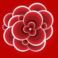 Free Abstract Red Flower. Stock Photo - 9836280