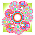 Free Abstract Coloured Flower Background. Royalty Free Stock Images - 9836289