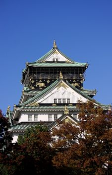 Free Osaka Castle In Autumn Stock Images - 9830034