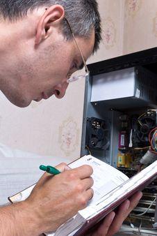 Free IT Engineer Working Stock Image - 9830421