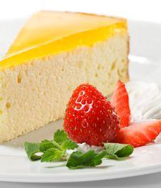 Free Dessert - Orange Cheesecake Stock Photos - 9831923