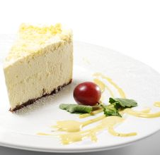 Dessert - Lemon Cheesecake Royalty Free Stock Image