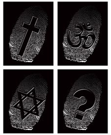 Black Fingerprint And Official Religion Stock Photography