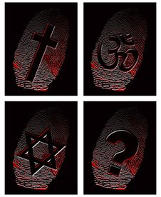 Free Black Fingerprint And Official Religion Royalty Free Stock Photos - 9832668