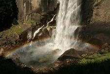 Rainbow Over Vernal Fall Stock Image