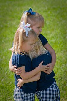 Free Three Sisters Hugging Stock Photo - 9834040