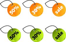 Free Sale Tags Stock Image - 9834661
