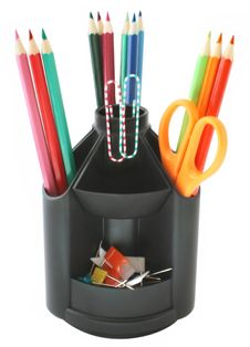 Free Pencils In Pencil Holder Stock Photo - 9835510