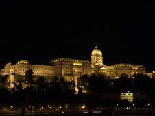 Free Buda Castel Night, Budapest Stock Photography - 9835672