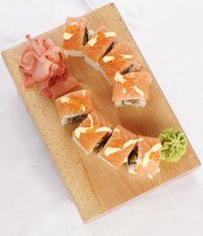 Free Sushi Sake Futomaki Royalty Free Stock Photo - 9835745