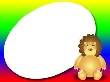 Free Frame For Kids With Lion Royalty Free Stock Photography - 9835807