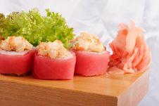 Free Sushi Maguro Hotate Mayonnaise Stock Photo - 9835810