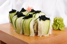 Free Shushi And Black Caviar Stock Image - 9836071