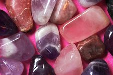 Free Pink And Violet Polished Stones Royalty Free Stock Photo - 9836205