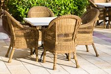 Free Table And Four Chairs On Patio Stock Photos - 9836363