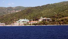Monastery On Athos Mountain Royalty Free Stock Photos